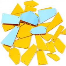 Пришивное зеркало Золото (яркое)